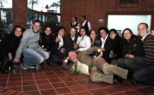 AU TESOL Professor Dr. Ken Beatty (Front Center) with students at Anaheim University - Universidad de la Sabana TESOL Residential Session in Bogota, Colombia