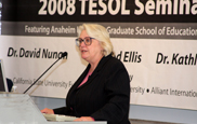 Anaheim University TESOL Professor Dr. Kathleen Bailey speaks at Cal State Fullerton