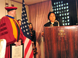 Dr. Kisho Kurokawa gives speech at Anaheim University Graduation ceremony